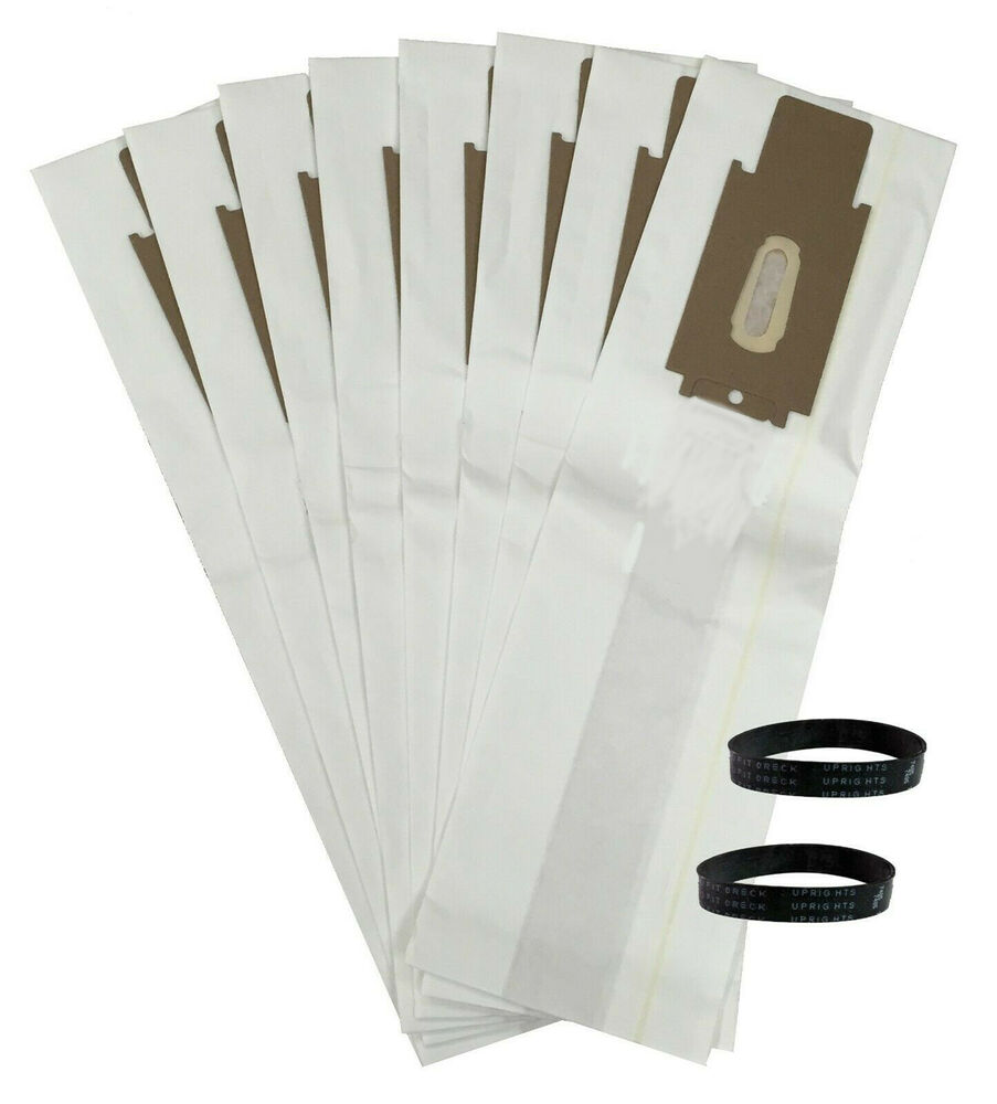8 Allergen Vacuum Bags And 2 Belts For Oreck Cc Xl Xl2
