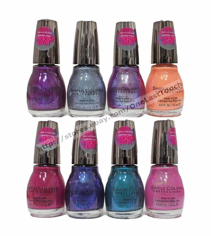 SINFUL COLORS Nail Polish FACETED IRIDESCENT COLOR Gel