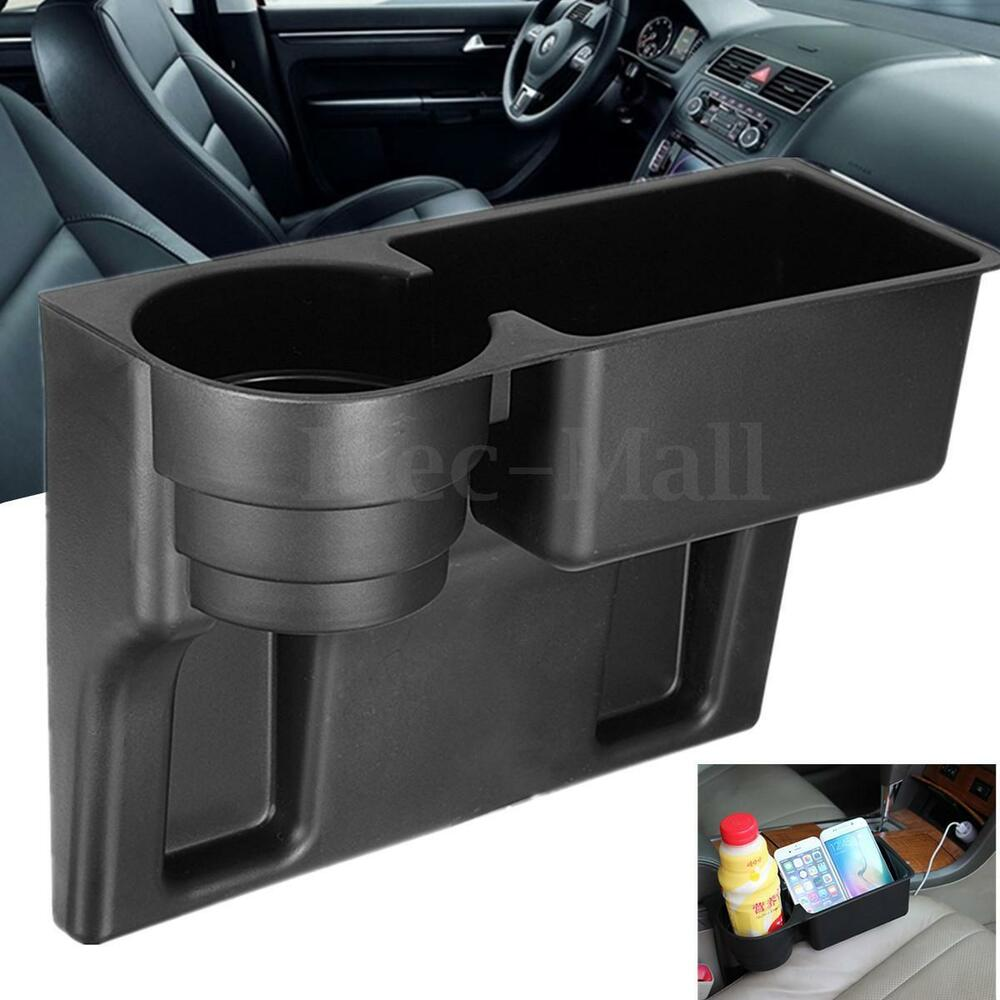 universal black cup holder drink beverage seat seam wedge car auto truck mount ebay. Black Bedroom Furniture Sets. Home Design Ideas