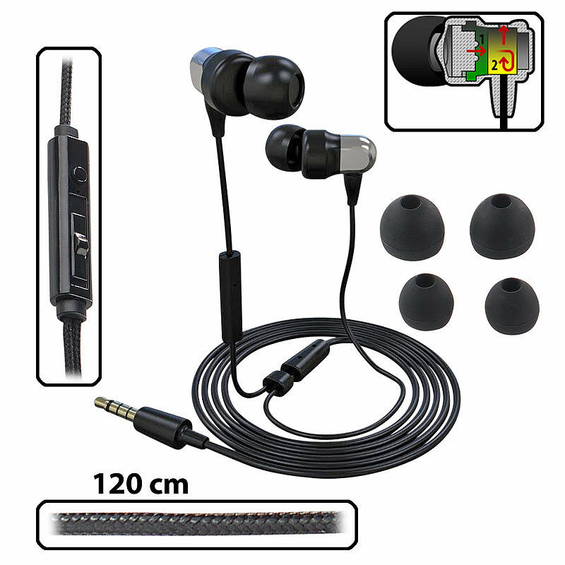 pearl premium in ear headset mit fernbedienung und patentiertem soundsystem ebay. Black Bedroom Furniture Sets. Home Design Ideas