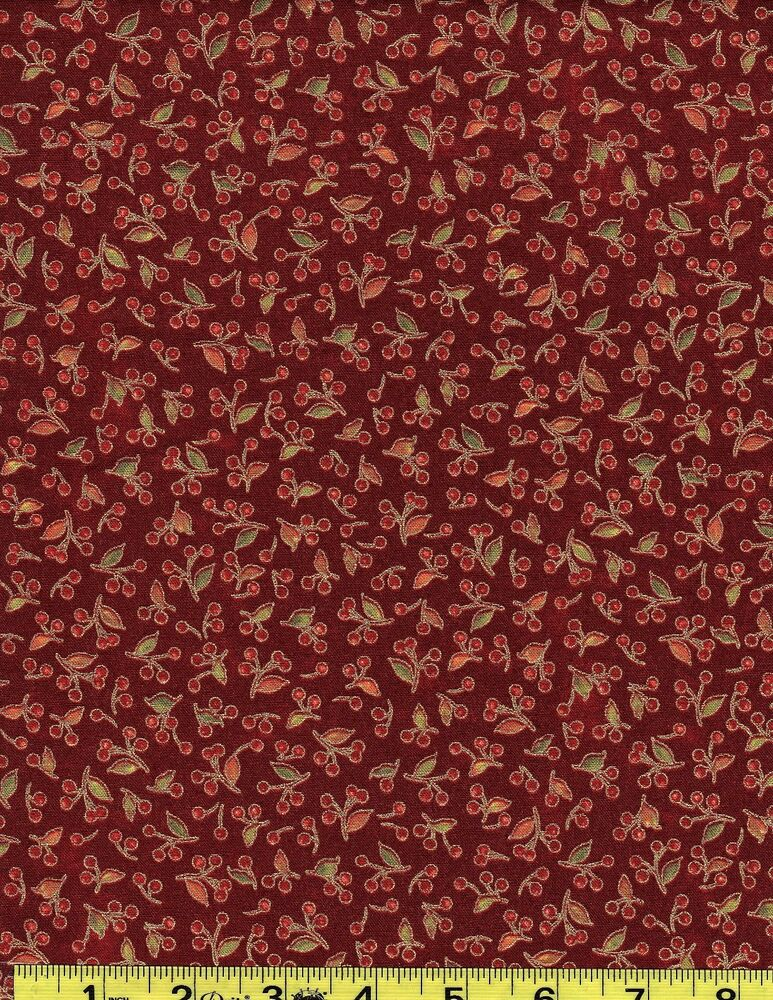 Autumn song 26295 red1 100 cotton quilting fabric red for The fabric of