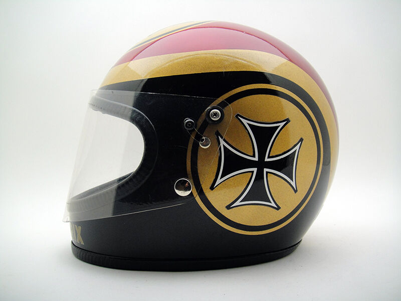 Bell Motorcycle Helmet >> Phil Read GRAND PRIX Motorcycle HELMET VTG 70's Knight ...