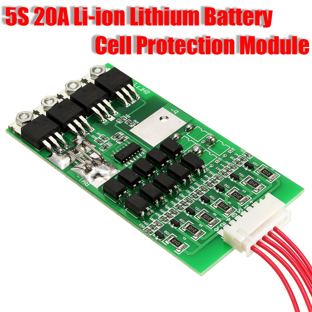 5S Cells 20A Balancing Li-ion Lithium 18650 Battery In Out ...