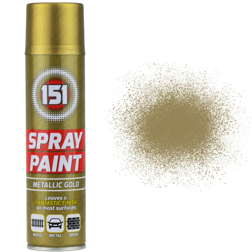 3 x 250ml 151 metallic gold aerosol paint spray cars wood metal walls graffiti ebay Spray paint for metal