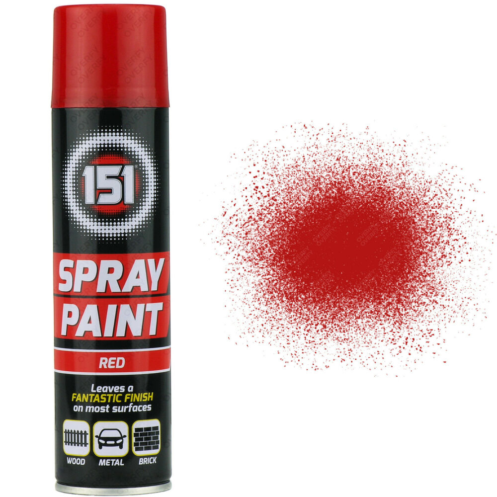 16 X 250ml 151 Red Gloss Aerosol Paint Spray Cars Wood Metal Walls Graffiti Ebay