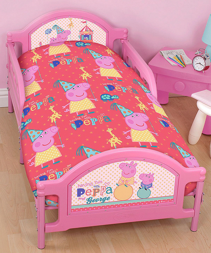 PEPPA PIG FUNFAIR JUNIOR COT BED DUVET QUILT COVER SET