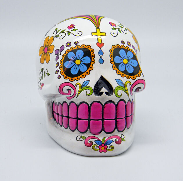 White Sugar Skull Mexican Day of the Dead Dia de Los ...
