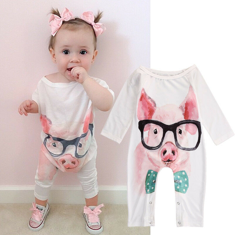 Cute Newborn Infant Baby Girl One-Piece Romper Jumpsuit ...