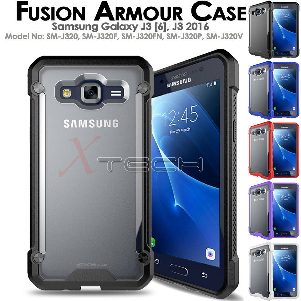 Samsung Galaxy J3 2016 Fusion Armour Premium Slim Hybrid Protective Case Cover Ebay