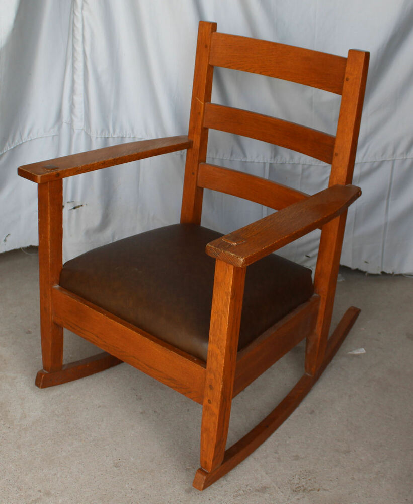 Antique Mission Oak Rocking Chair Rocker Lifetime