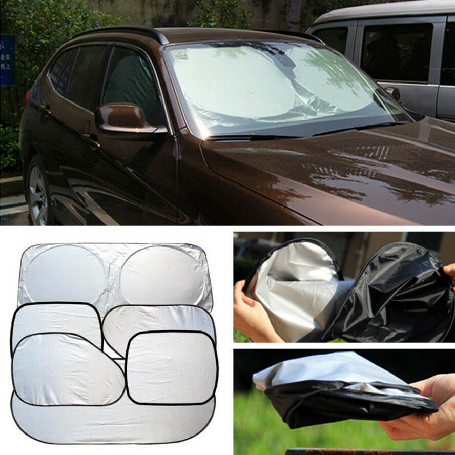 car window sun shade foldable windshield shield visor block uv protection cover ebay. Black Bedroom Furniture Sets. Home Design Ideas