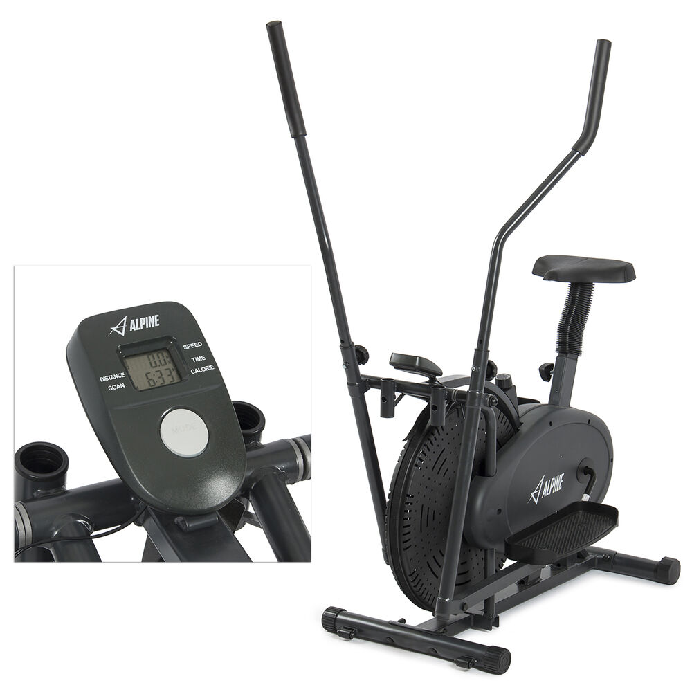 2 IN 1 Elliptical Bike Cross Trainer Exercise Fitness