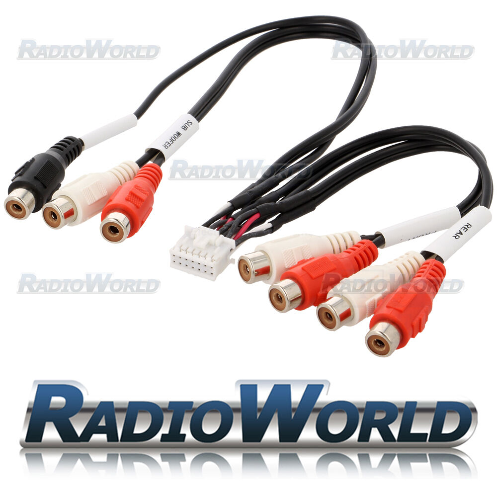 Kenwood Dnx8220bt Dnx8120 Dnx9260bt Rca Pre Out Phono Cable Lead Sony Mex Bt3700u Wiring Harness Ebay