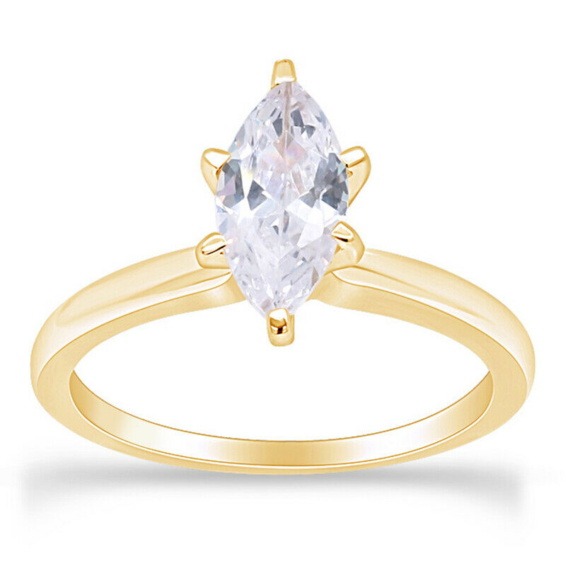 1 25 Ct Marquise Cut Solitaire Engagement Wedding Ring 10k