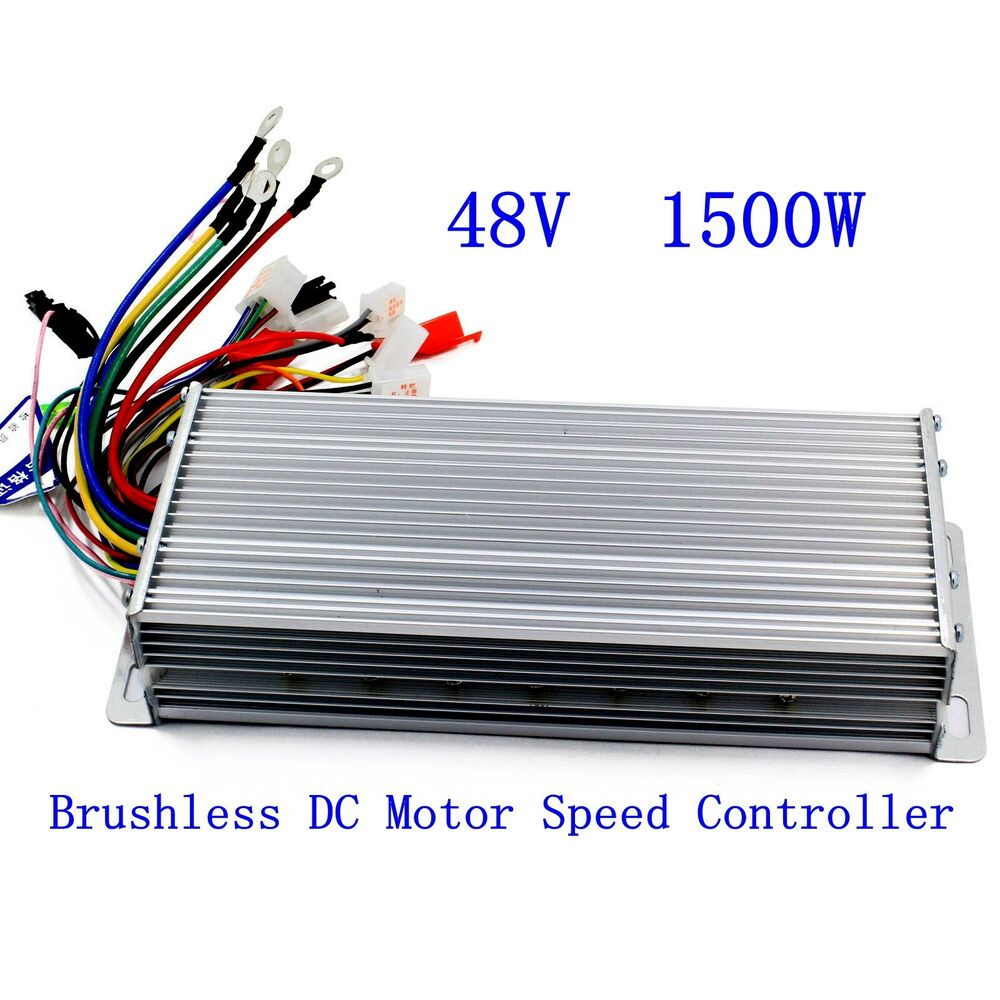 Electrical Motor Controllers : V w electric bicycle e bike scooter brushless dc