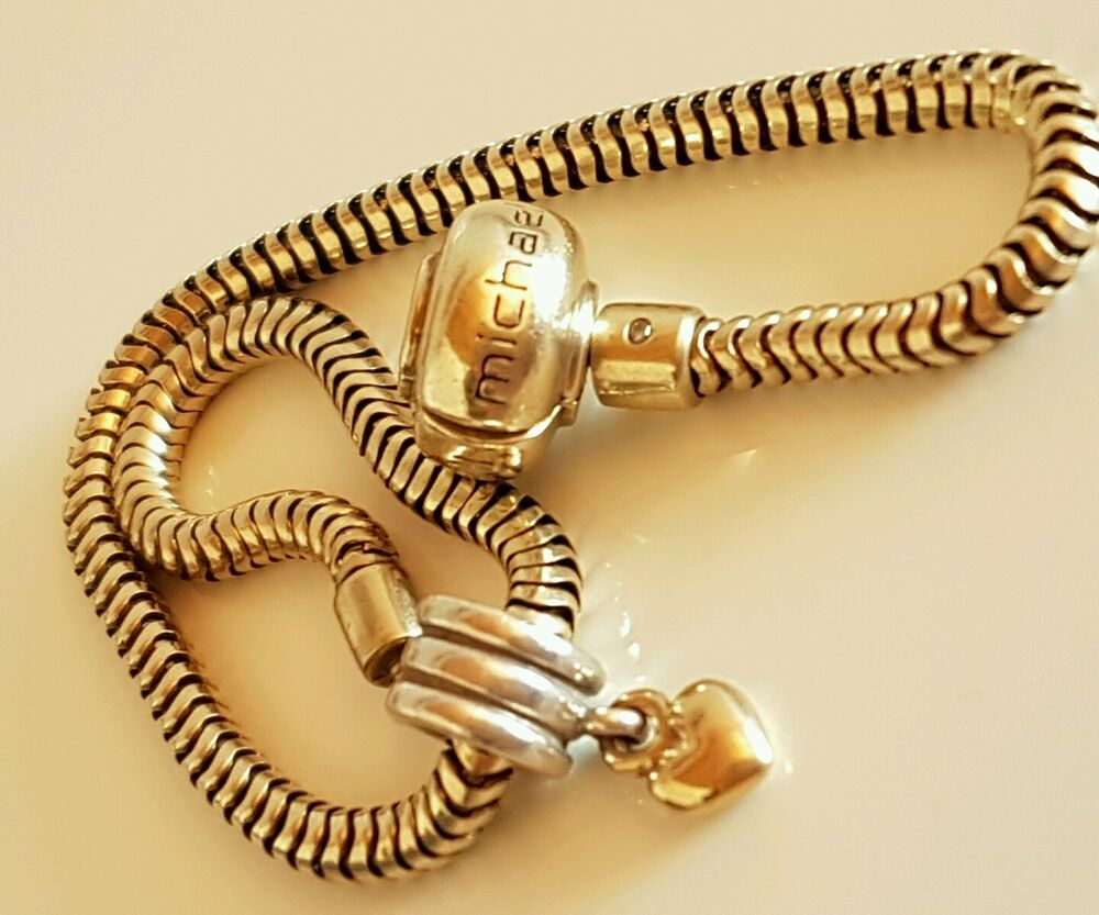 solid 10k gold michael hill charm bracelet with free