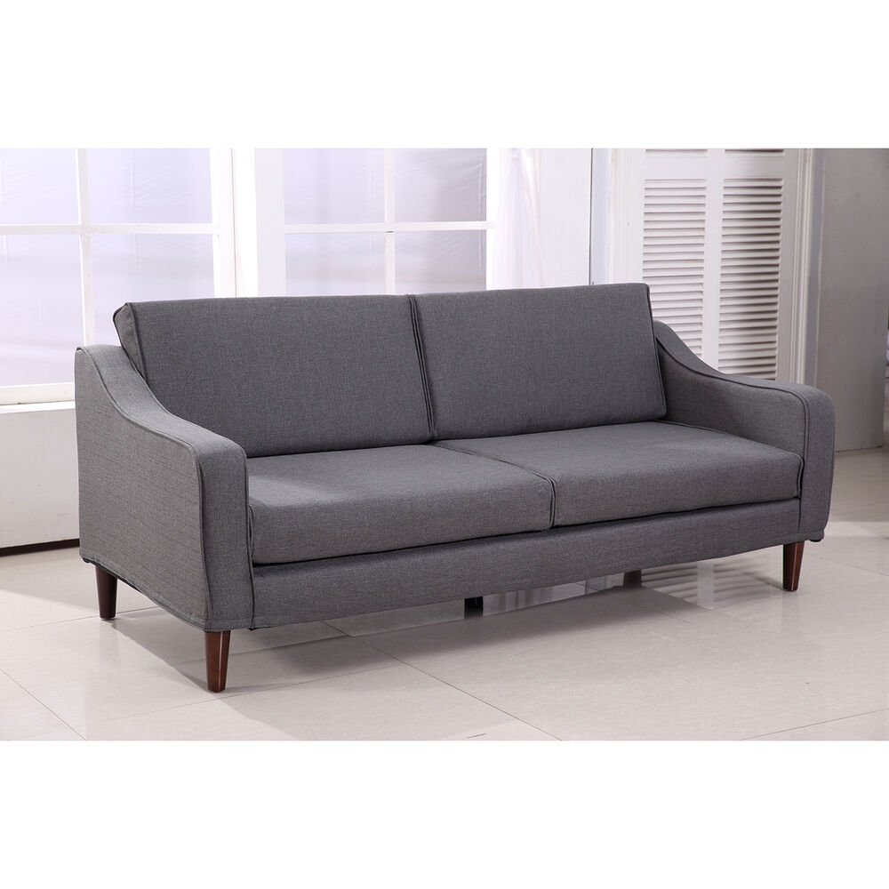 Homcom three seat sofa couch cushion chair home furniture for Sofa bed 3 2