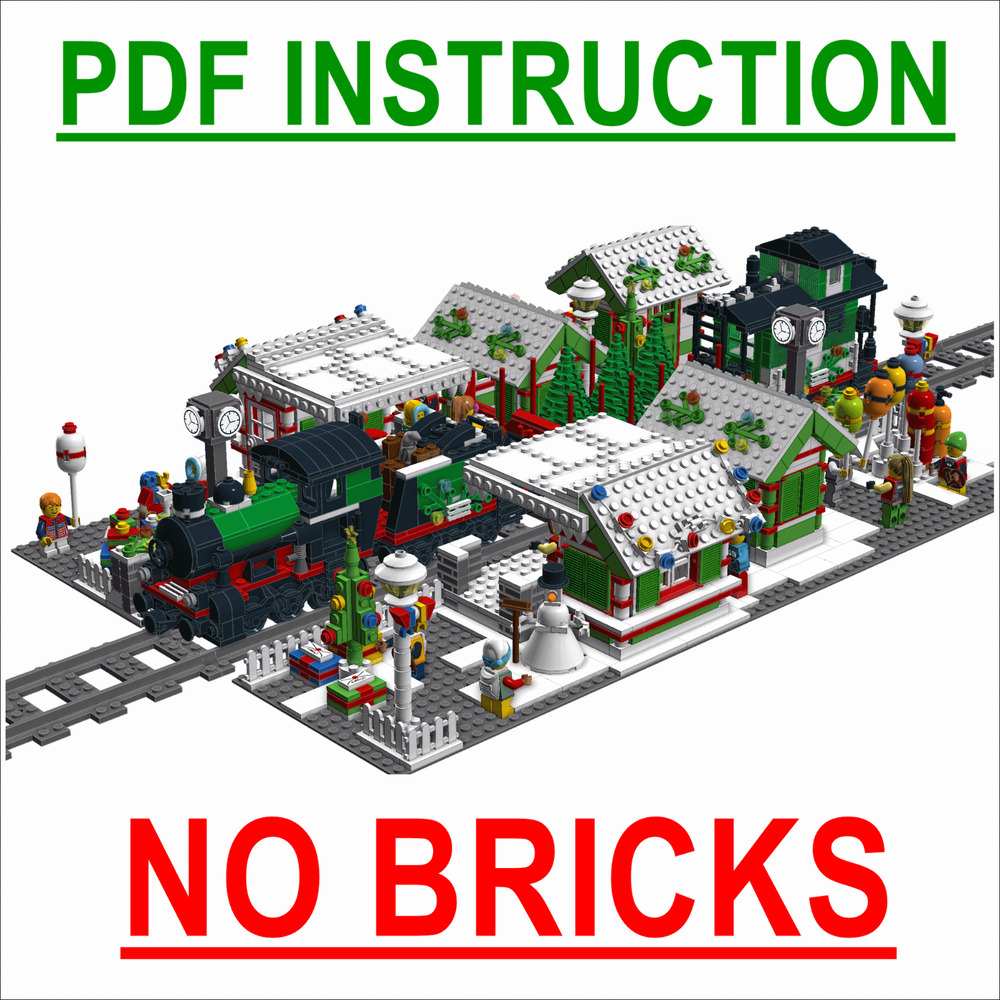 lego train station instructions