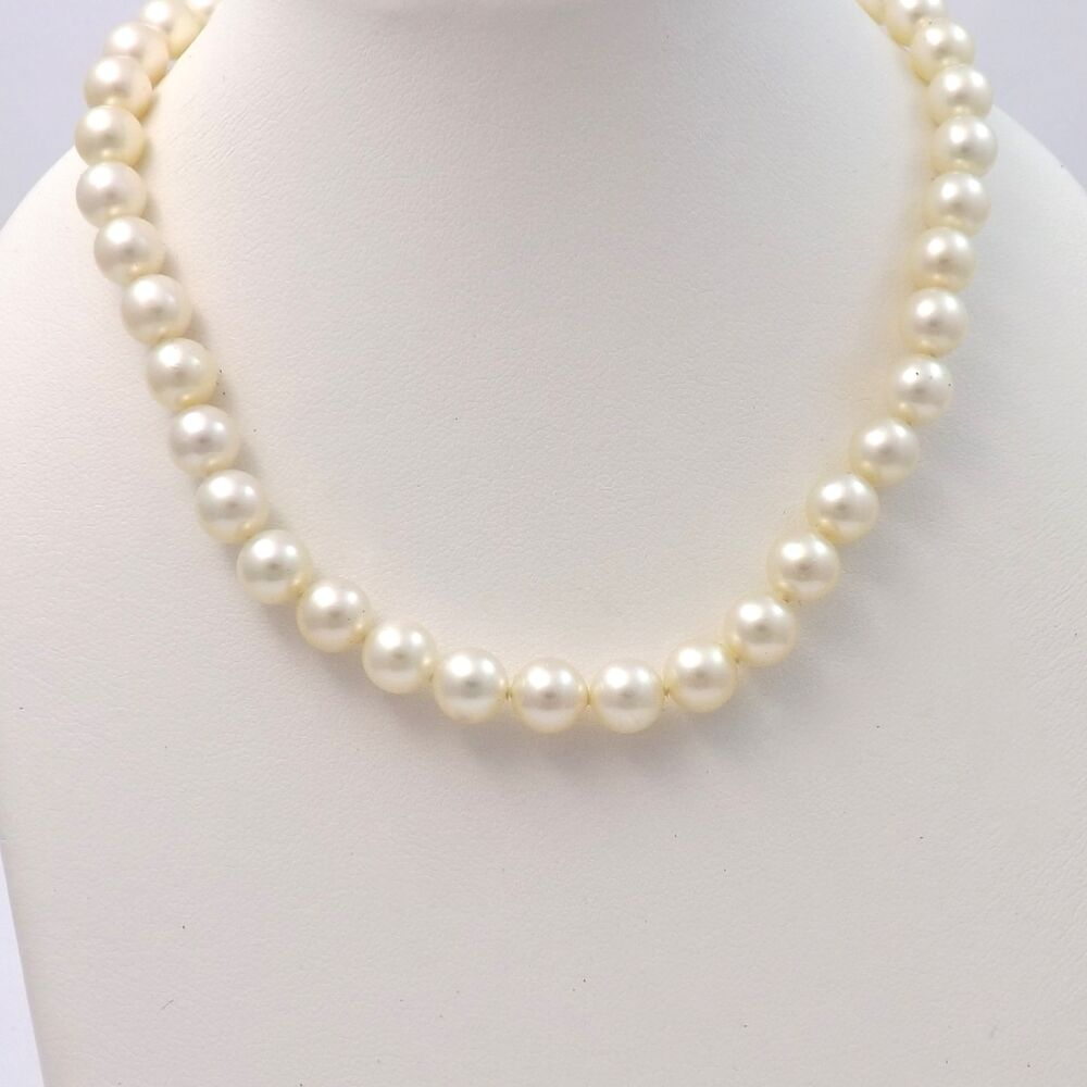 Mikimoto Pearls Necklace: Vintage Mikimoto Akoya Pearl 6.5-7mm Graduated Necklace
