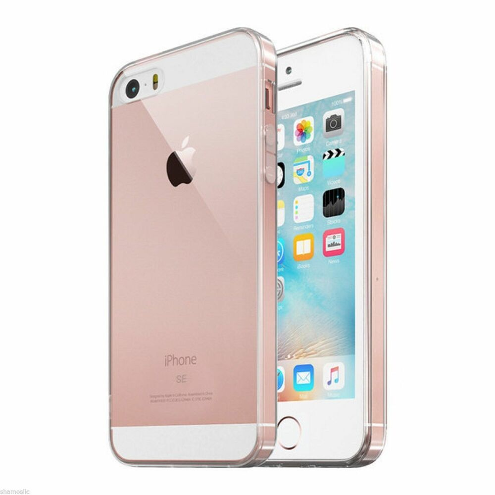 for iphone se case crystal clear hard shockproof protective iphone 5 5s cover ebay. Black Bedroom Furniture Sets. Home Design Ideas