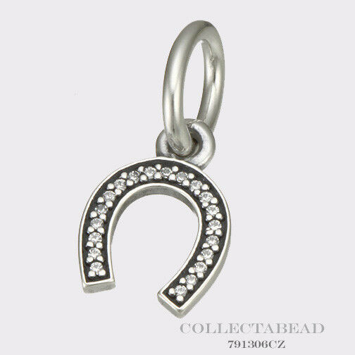 authentic pandora silver hanging symbol of luck horseshoe