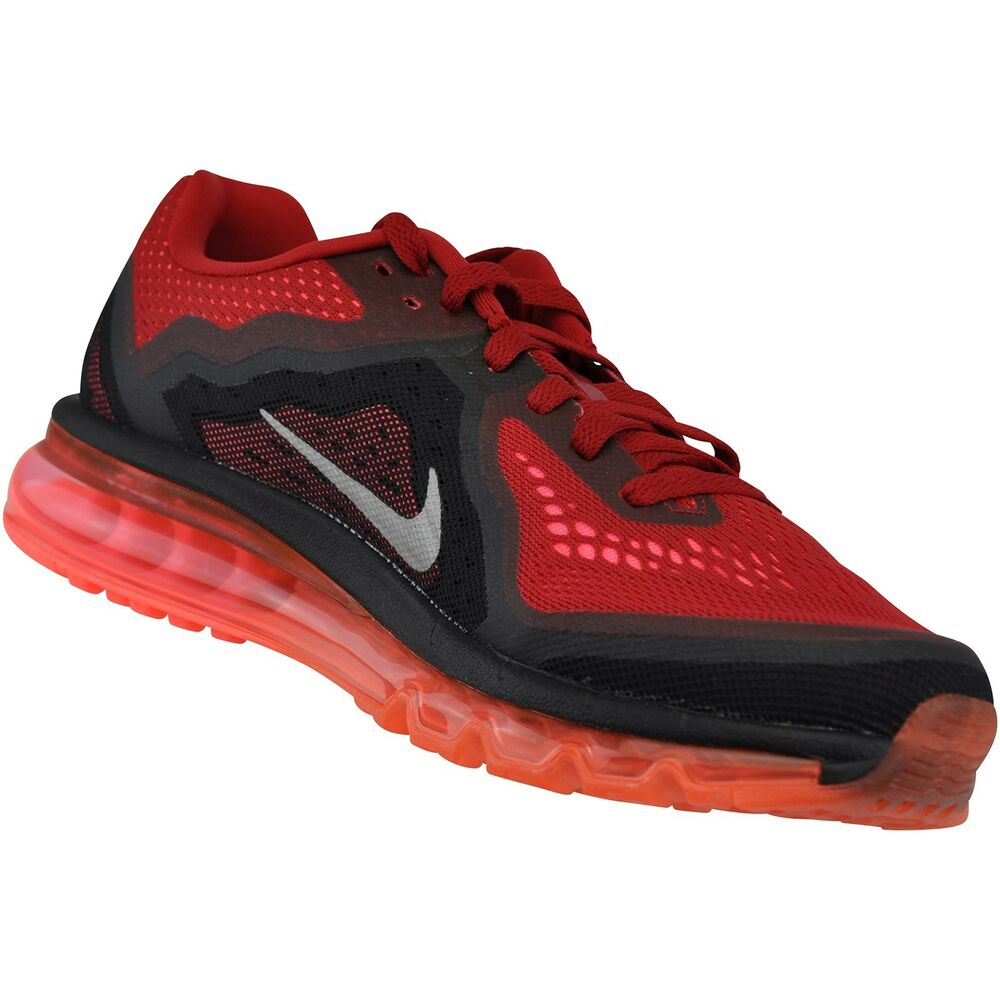 nike air max 2014 mens size running shoes red silver. Black Bedroom Furniture Sets. Home Design Ideas