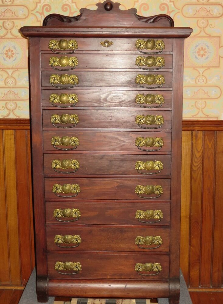 Antique collectors jewelry lingerie 11 drawer music map for Lingerie and jewelry chest