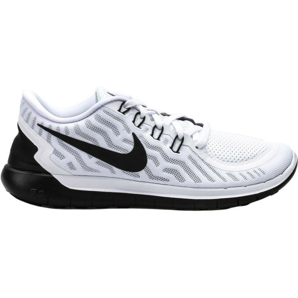 Nike Free 5.0 Mens Size Running Shoe White Black 724382 ...
