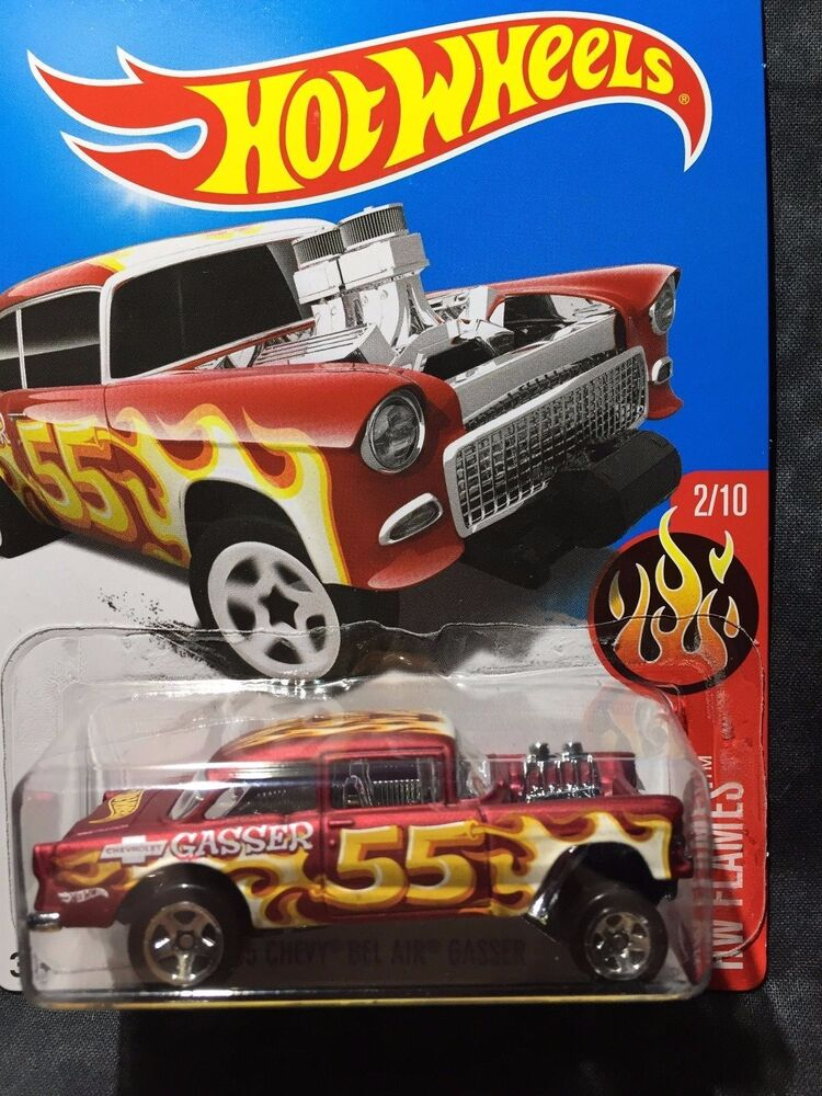 Hot Wheels 55 Chevy Bel Air HW Flames 2017 momc NEW | eBay