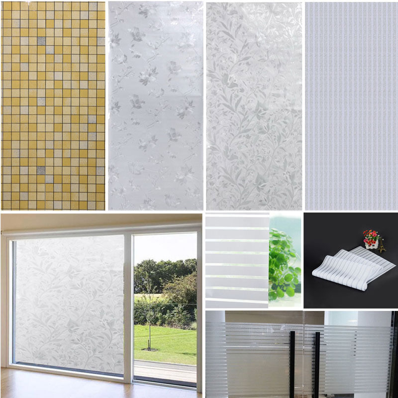 New Static Frosted Privacy Home Bathroom Window Self