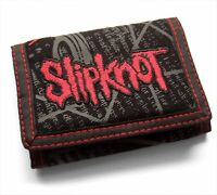 SLIPKNOT - EMBROIDERED RED LOGO NONAGRAM CANVAS WALLET - NEW NWT OFFICIAL
