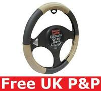 Leather Black Beige Steering Wheel Cover for HYUNDAI ACCENT 07 ON G9