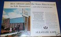 1962 Allstate Life Ins Sears Idea at work Ad
