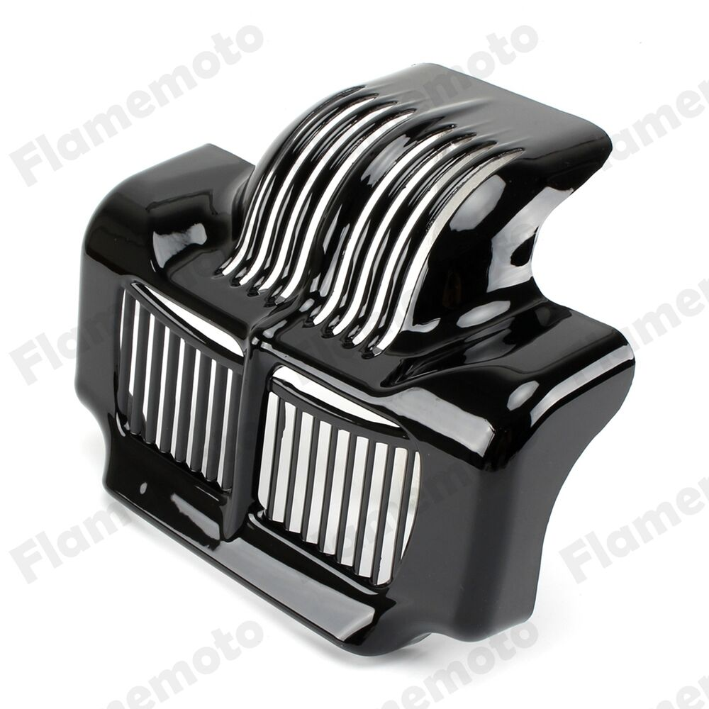 Harley Engine Oil Coolers : Black stock oil cooler cover for harley touring road king