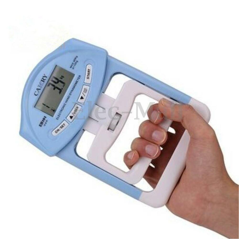 Hand Grip Dynamometer : Lb kg electronic hand grip strength meter dynamometer
