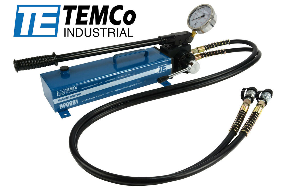 Temco Manual Hand Hydraulic Pump 2 Stage Double Acting