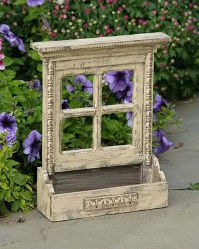 Window box style planter box wall pocket display decor 10 for 1 x 3 window