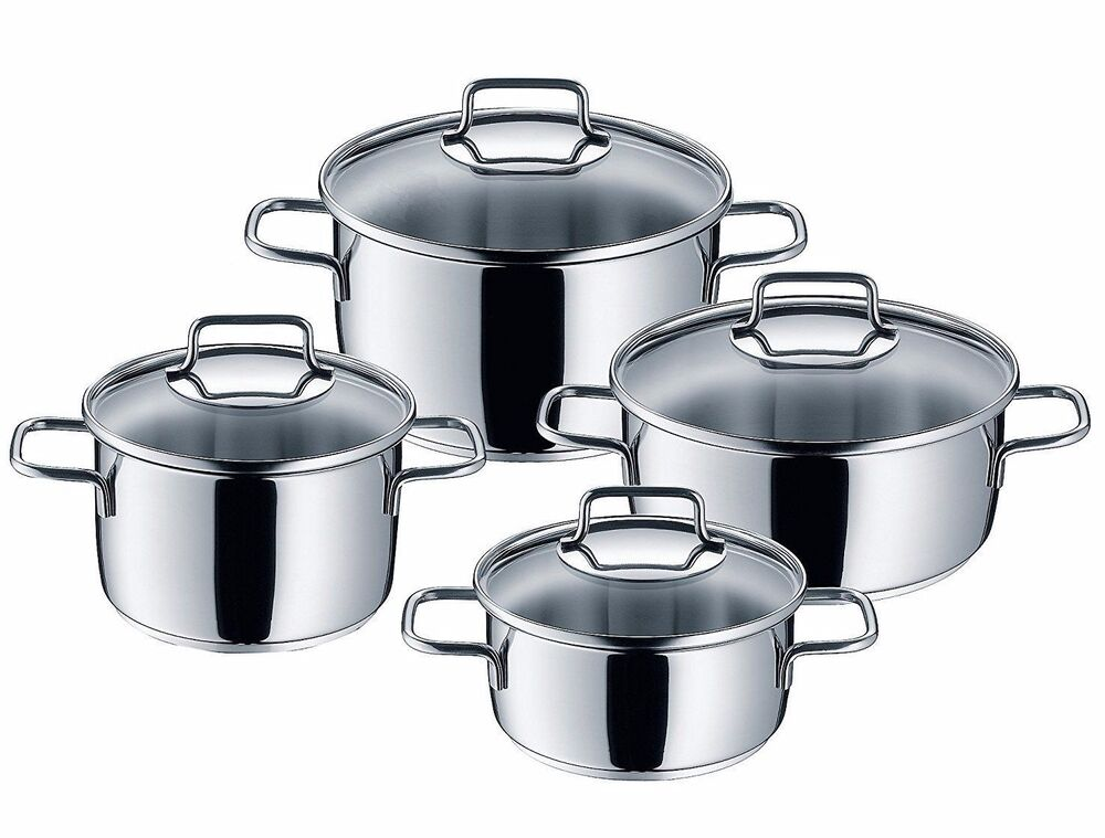 wmf 8 piece astoria 18 10 stainless steel cookware set ebay. Black Bedroom Furniture Sets. Home Design Ideas