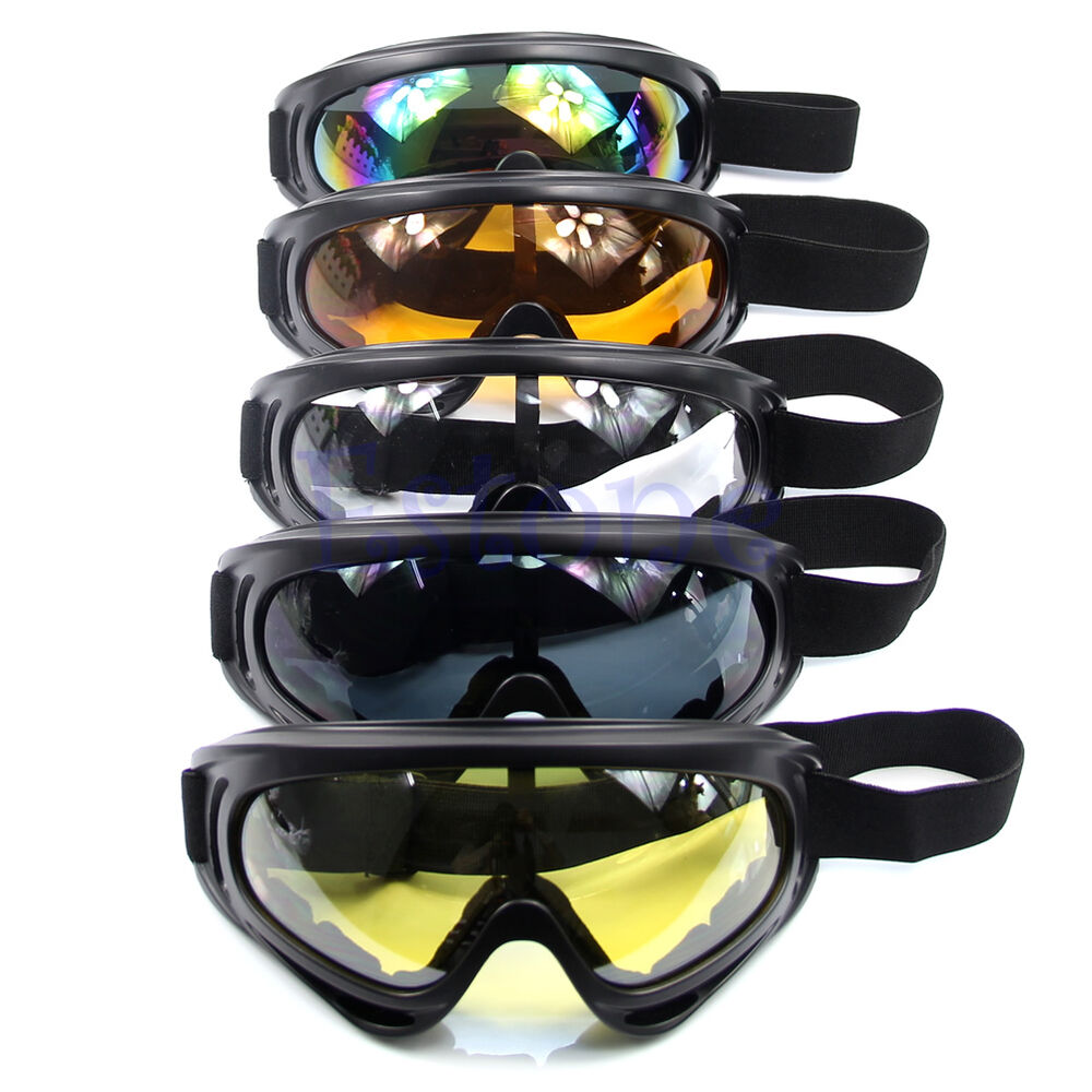 f1f9f4555ff Details about Snowboard Dustproof Sunglasses New Motorcycle Ski Goggles  Lens Frame Eye Glasses