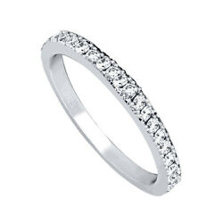Women's Solid Sterling Silver Anniversary Wedding Ring Band Size 5 6 7 8 9 10
