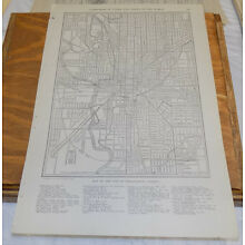 1912 Collier's City Map////INDIANAPOLIS, INDIANA