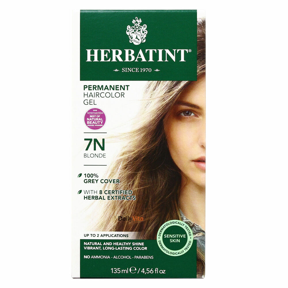 herbatint permanent herbal hair color gel 7n blonde ounce ebay. Black Bedroom Furniture Sets. Home Design Ideas