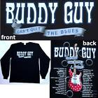 BUDDY GUY CAN'T QUIT THE BLUES TOUR 2008-09 BLK L/S SHIRT LARGE NEW