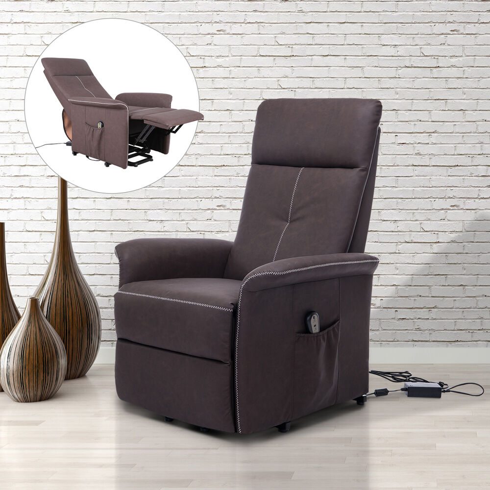 Lifting recliner leather chair living room furniture for Ebay living room chairs