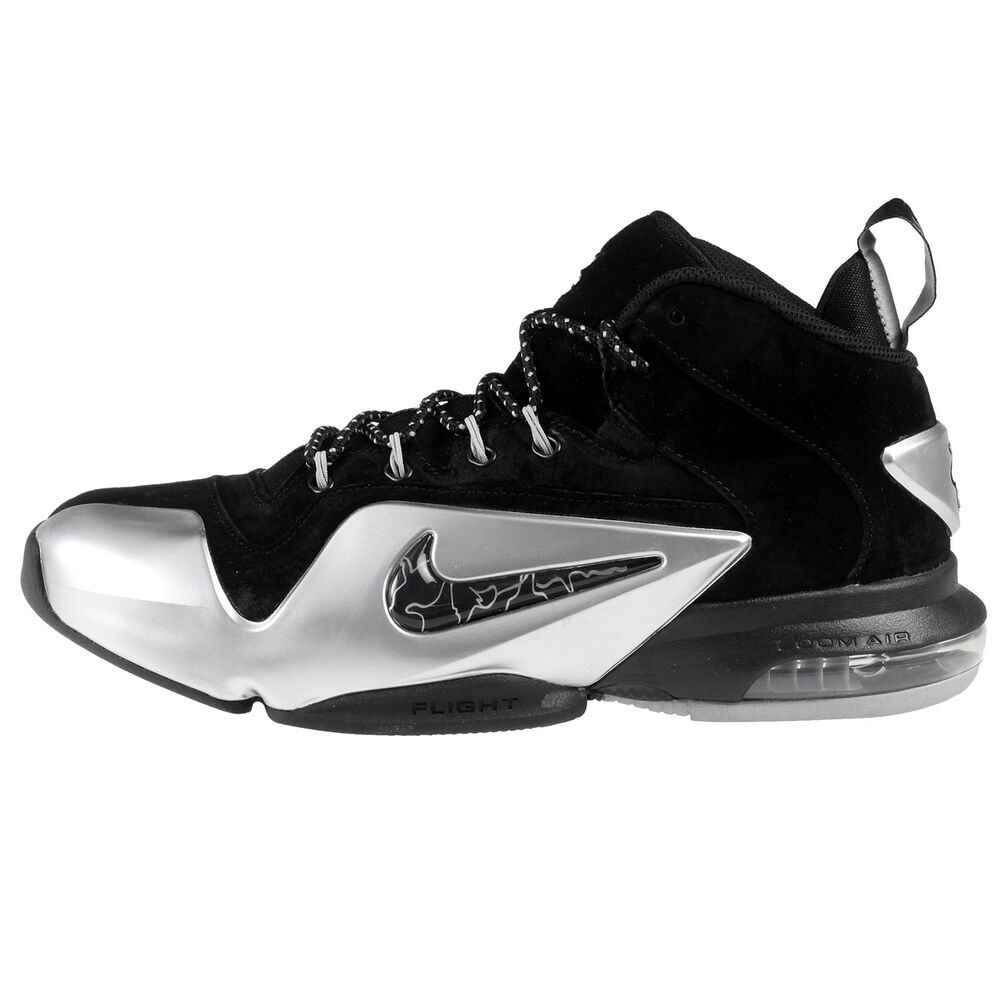 f9c81b5c40da6 Details about Nike Zoom Penny VI Mens 749629-002 Black Metal Silver  Basketball Shoes Size 13