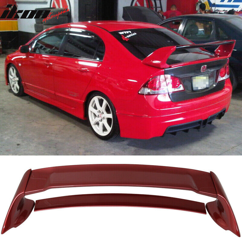 06 11 honda civic mugen style trunk spoiler painted for Honda civic trunk
