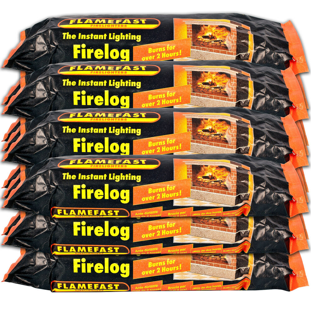 Flamefast Instant Light Smokeless Fire Log Burns For 2 3