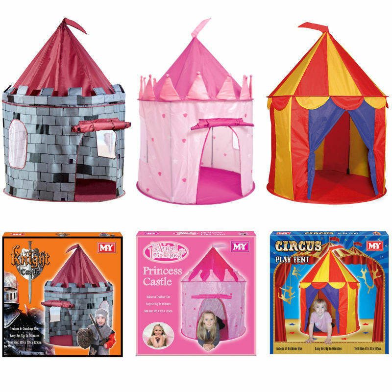 kids pop up play tent wendy house castle princess circus playhouse ebay. Black Bedroom Furniture Sets. Home Design Ideas
