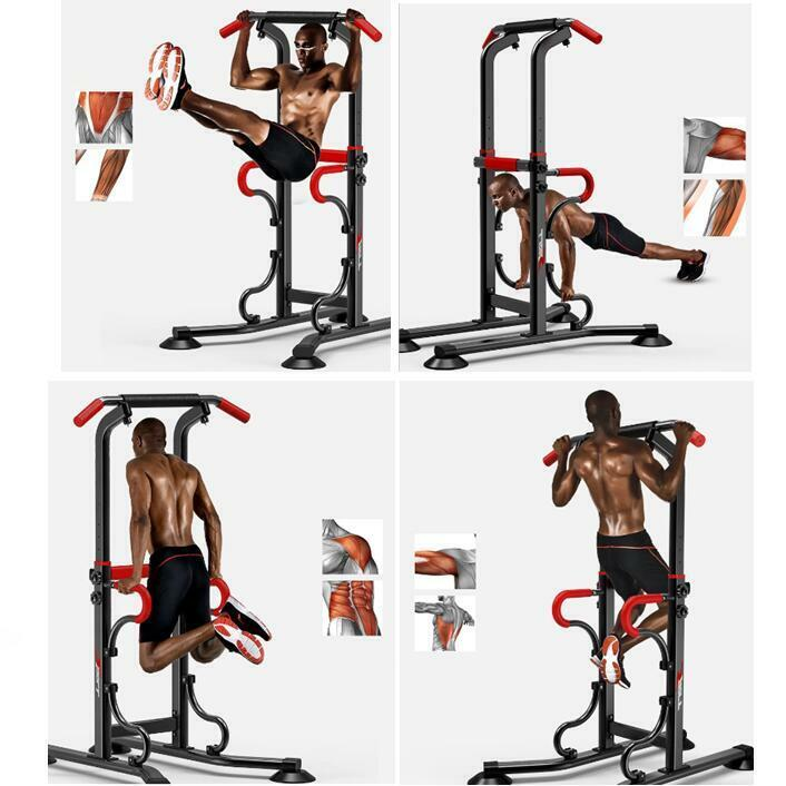 Home Gym Leg Workout: Home Gym Fitness Power Tower Dip AB Pull/Chin Up Bar KNEE