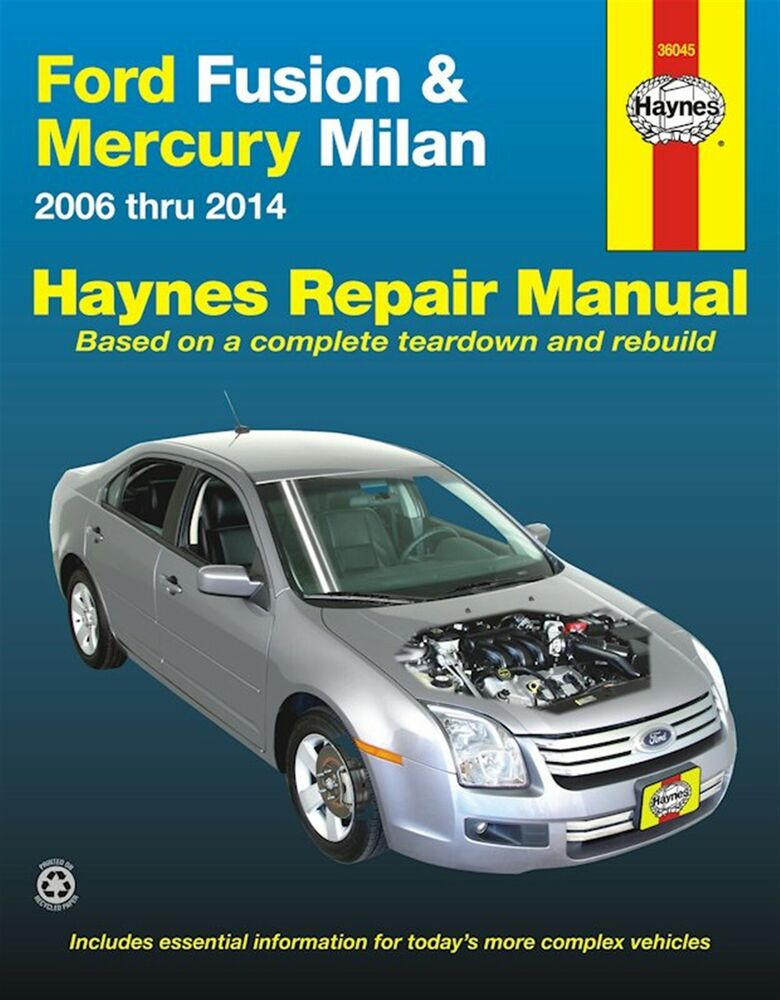 ford fusion mercury milan repair manual 2006 2014 ebay. Black Bedroom Furniture Sets. Home Design Ideas